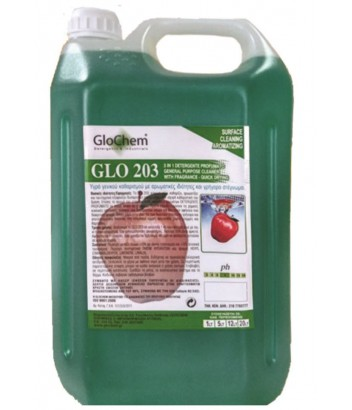 GLO203 RED APPLE 3 IN 1 ΑΡΩΜΑΤΙΚΟ ΜΕ ΑΛΚΟΟΛΗ 5LT GLOCHEM